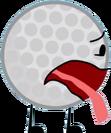 Golf Ball's Barfy Pose