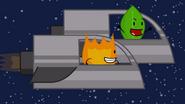 Spaceship firey leafy