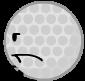 Golf ball on spongy