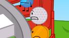 The Glistening BFDI Golf Ball