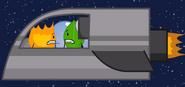 Landing spaceship