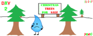 The 24 Days of Christmas Day 2 Teardrop checked every trees that is on sale