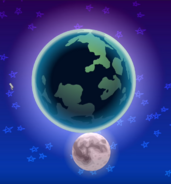 Earth and Moon Together