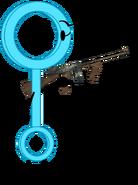 Bubble wand holding a gun by tylerthemoviemaker6-dc820xa