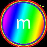 Rainbow m&m's body