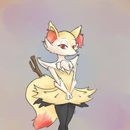 Doodle braixen by tsubukisan-d6md4t6