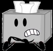 Grey box of tissues