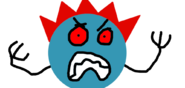 Red flaming spike ball enraged by azuraring-dcinkgi