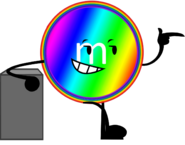Rainbow m&m's pose 1