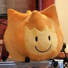 A Firey Plush in the cafe.