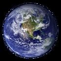 Earth Western Hemisphere transparent background