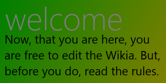 Wiki Template- Welcome