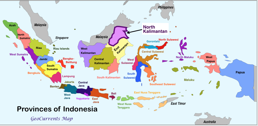 Image - Indonesia-provinces-North-Kalimantan-Map.png | Object Shows ...