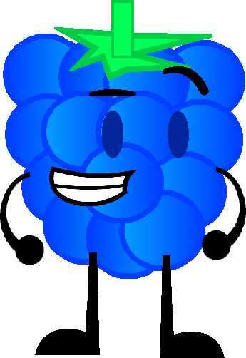 Cartoon blue raspberry