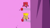 King Woody jumps on the boxing gloves with Blocky
