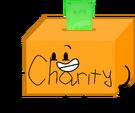 Donation box pose