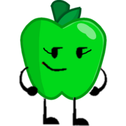 Green apple pose
