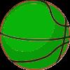 Green Basketball Looking Up (1)
