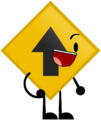 Object Terror Road Sign