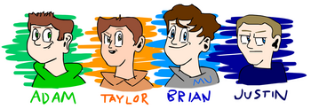 Adam Katz, Taylor Grodin, Brian Koch, and Justin Chapman