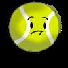 Tennis ball's pose