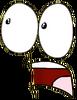 Lightbulb shocked face