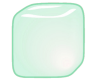 Green Ice Cube Icon
