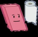 Eraser holding paper towel