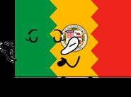 Los Angeles Flag Pose
