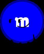 Blue M&M Pose