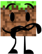 Grass Block (Holding Arms)