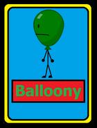 Balloony card
