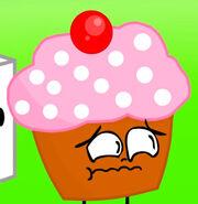 Cupcake Scared like Weird Face