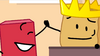 King Woody high fived Blocky