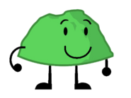 Green Rocky with arms
