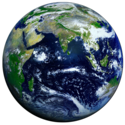 Earth Western Hemisphere transparent background0