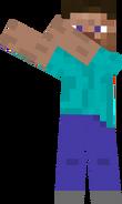 Minecraftian pose