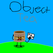 Object tea with the host circle tea lonely
