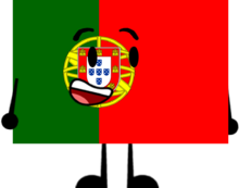 Portugal flag Character
