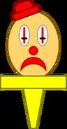 Clown Head Cupcake Topper (Asset, Sad)