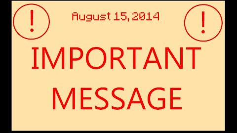 IMPORTANT MESSAGE!