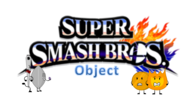 SuperSmashObjectBrosLogoWithThe4OringalFighterPlayers