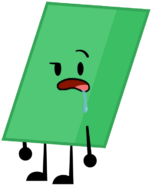 Smaragdine-colored Parallelogram Thats Leaned Towards The Right pose