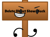 Object Shows Suck Hater Sign