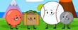 Balloon, Suitcase, Baseball, Nickel