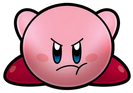 Angry Kirby Crouching Super Star Ultra Artwork
