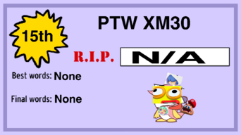 Elimination Card (PTW XM30)