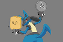 Lucario , nickel and woody
