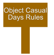 Object Casual Days Rules Sign New Body
