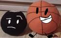 Basket and 8-Ball Plushies